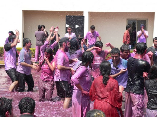 College life is best to enjoy the festival of colors.