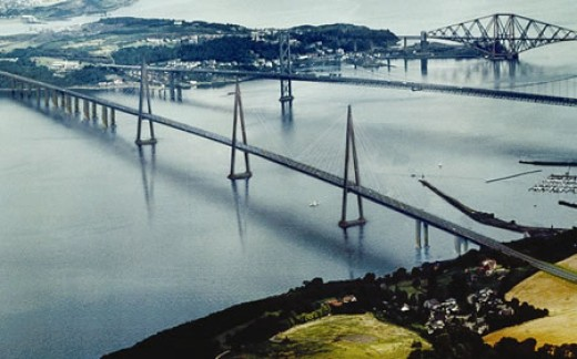 Proposed site of the Third Forth Crossing