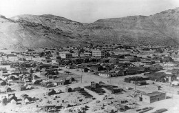 The town of Rhyolite in January of 1908.
