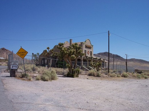 More decaying buildings bringing back memories of a once booming gold mining town, Rhyolite, Nevada.