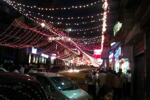 Brigade Road on 1 January 2012
