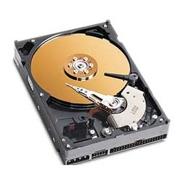 A typical (though an old-style IDE) hard drive