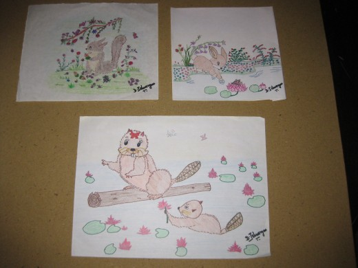 Some of my pictures were inspired by animals.