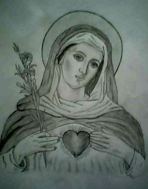 How To Draw Mary The Mother Of Jesus
