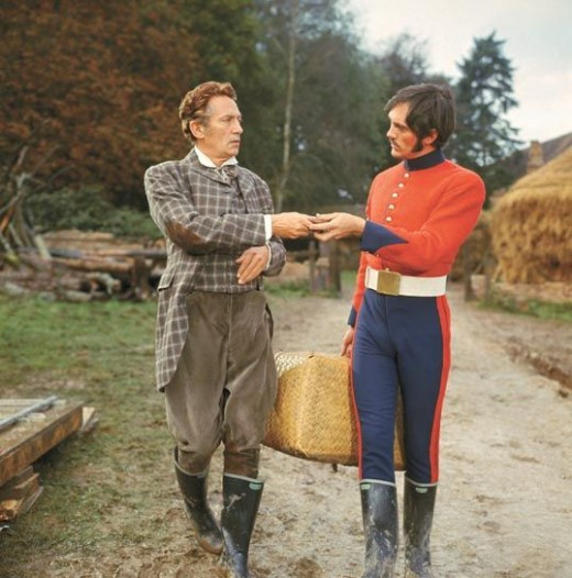 Peter Finch as William Boldwood and Terence Stamp as Sergeant Troy