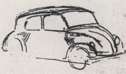 Hitler's sketch of the design, drawn by himself.