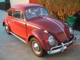 A 1960 beetle sedan