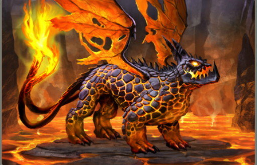 Fire Dragon with No Armor
