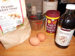 mix tapioca starch and rice flour to create wgf pancakes