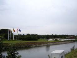 Lys Island and marina on the Menen - Halluin border