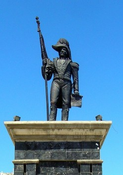 The  Jean Jacques Dessalines  Death and Legacy statue.