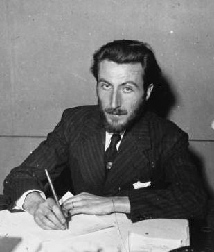 French writer Maxence Van der Meersch (1907-1951) in 1936