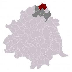 Map location of Halluin, France