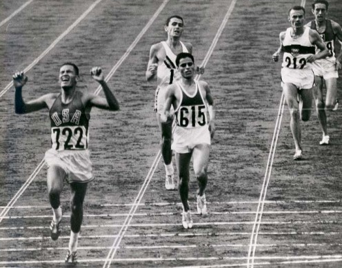 "Winning the 10,000m in the 1964 Olympics: Lakota and 1st Lt.  William ""Billy"" Mills, USMCR."