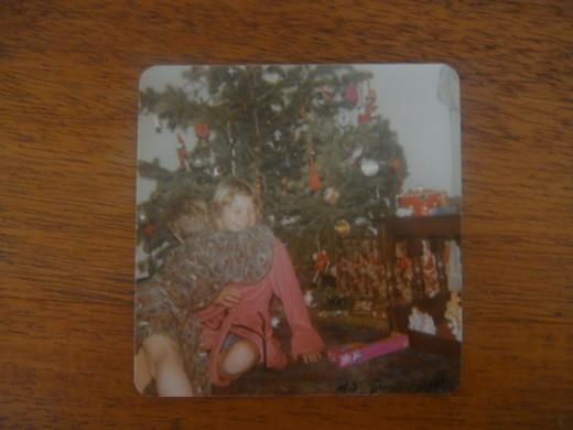 Barbie in box beneath the Christmas tree