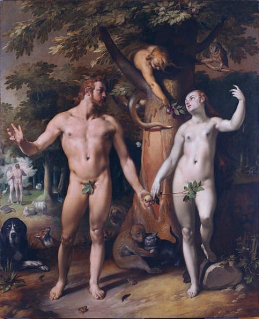The Fall of Man by Cornelis Van Haarlem (1592)