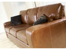 Twin Stich Detail shown on Leather Sofa.