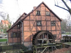 Old stone grinding watermill (today a museum) in Schwerin, Germany