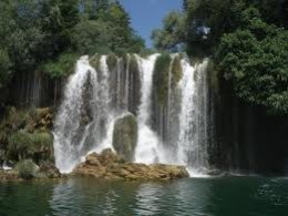 Rošci Slap (Rosci falls) at Krk National Park in Croatia