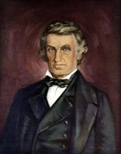 Dr. William Beaumont 1785 - 1853, pioneer American physiologist (from the painting for Petrolagar Laboratories, Inc., by Tom Jones).