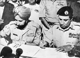 Pakistan's cowardly surrender to the heroic India in 1971 war of  Bangladesh. Tomorrow Bangladesh should crush Pakistan  in the odi match at Mirpur as a revenge