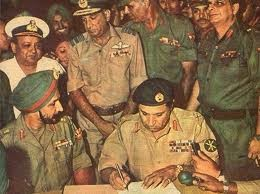 Pakistani military leader signing  the surrender paper before heroic India in 1971. Will Pakistan taste similar defeat tomorrow at Mirpur to Bangladesh?