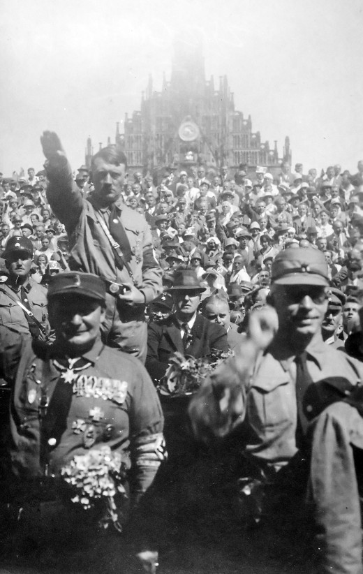 Hitler was a great speech maker, he really understood how to get a crowd of people excited.