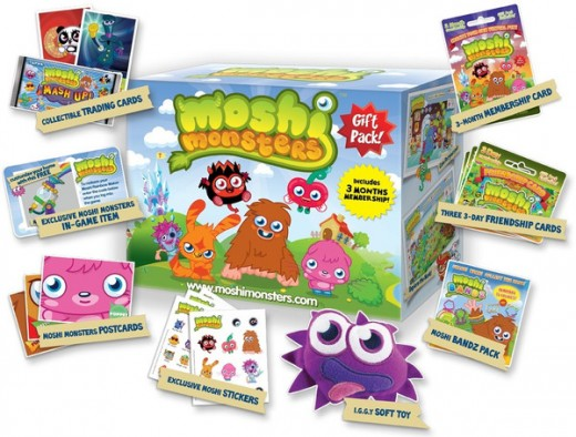 Moshi Monsters gift pack and contents