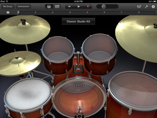 The iPad is for fun too! Garageband the way it should be with intuitive touch to play instruments