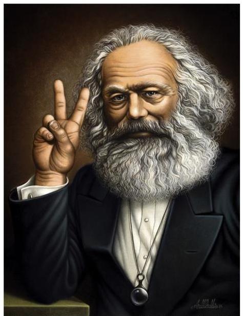 Karl Marx: 1818 - 1883.  Angry Euro Socialist