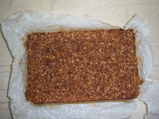 9. The flapjacks are a golden brown when cooked....