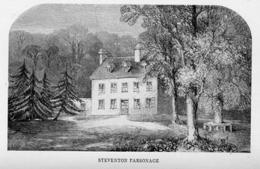 An engraving of the Austens' home at Steventon