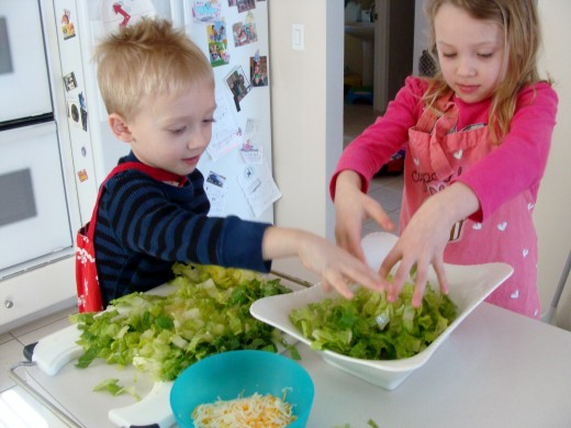 Add the lettuce.