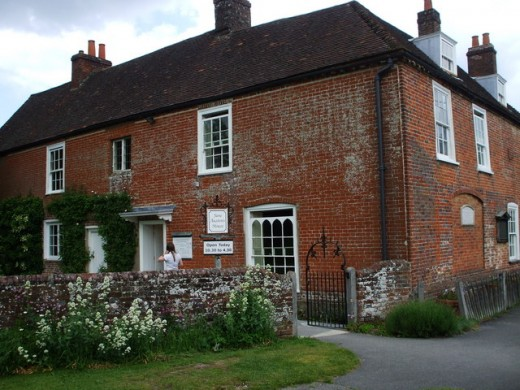 The cottage in Chawton where Jane spent the last years of her life