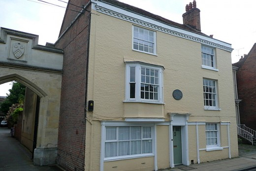 8 College Street in Winchester, the house where Jane Austen died in 1817
