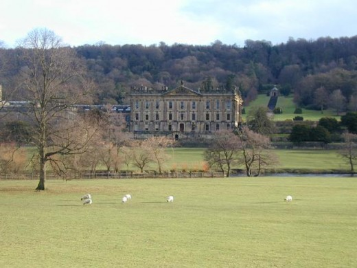 The magnificent Chatsworth in Derbyshire