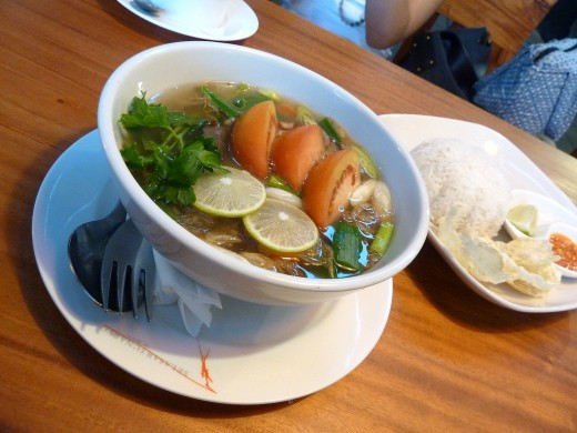 Indonesian oxtail soup - sop buntut