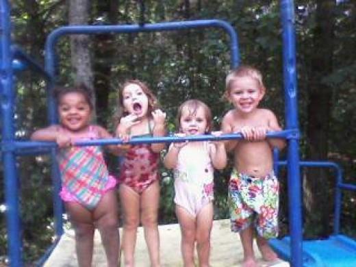 Daycare Friends Having Fun