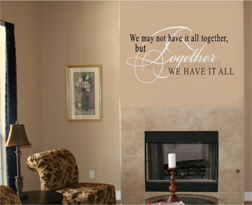 decorate with 3d or vinyll word wall art