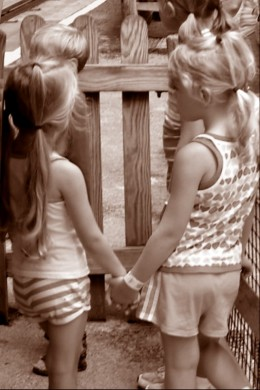 Best Friends, Small Children Holding Hands