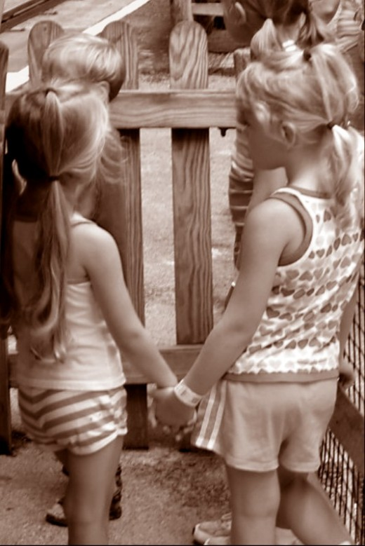 Best Friends, Small Children Holding Hands