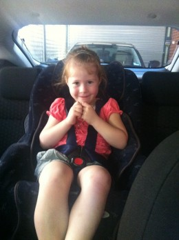 Forward facing child safety seat