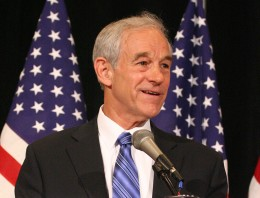Voting in America: Dr. Ron Paul on the campaign trail as a presidential candidate.