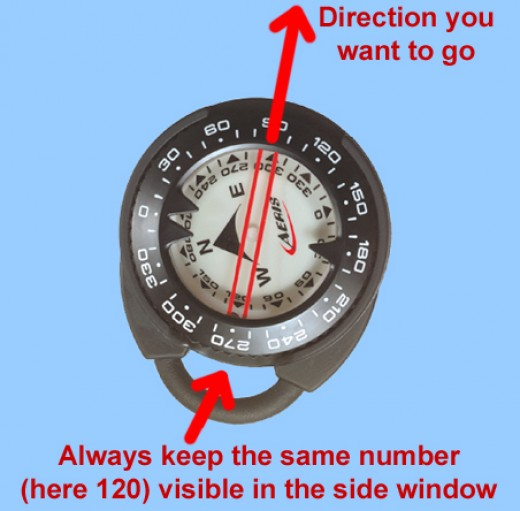 Compass- helps the diver to locate areas underwater and move from one location to another without breaking the surface.