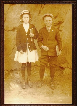 Two school children in the 1920s