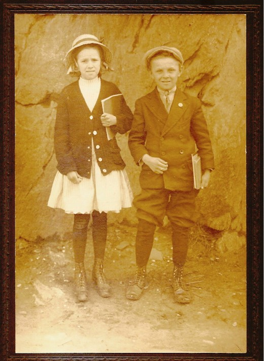 Two school children in the 1920s