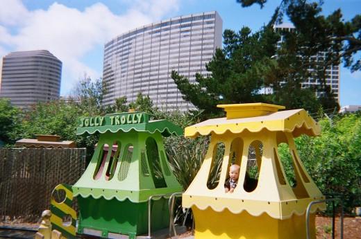 Jolly Trolley at Children's Fairyland in Oakland, CA