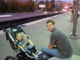 Toddlers love riding the BART train, and it can take you to many useful places all over the Bay Area