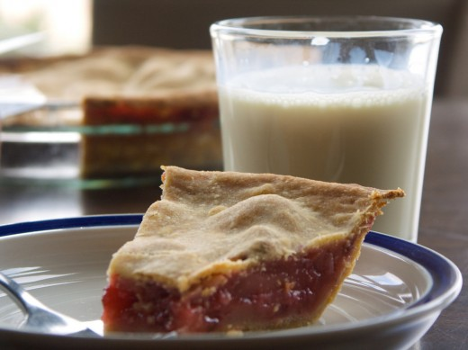 Slice of Freshly Baked Strawberry Pie