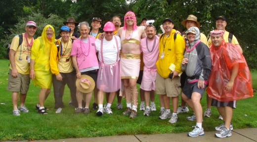 The Pink Angel Posse & Men with Heart
